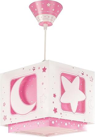 Dalber 63232S Hängeleuchte Rosafarbener Mond Kinderzimmer Lampe ...