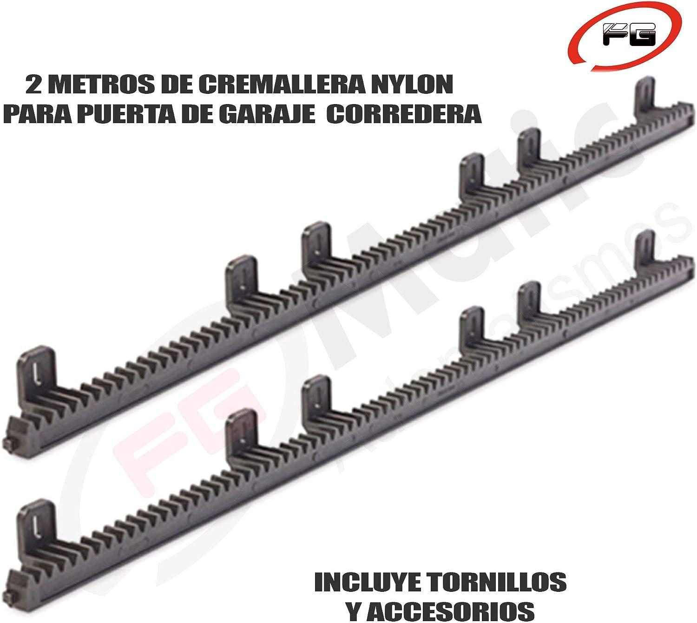 2 Metros de cremallera de nylon reforzada en acero para puerta o ...
