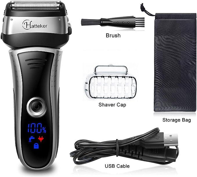 HATTEKER - Maquinilla de afeitar eléctrica para hombre, con ...