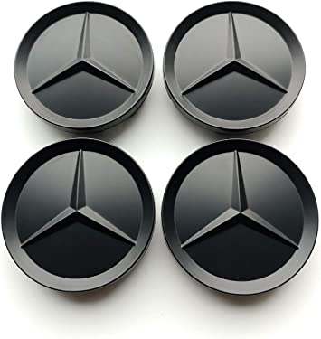 Felgendeckel Mercedes Benz 4 X 64mm Nabendeckel Radnabenkappen Felgenkappen Nabenkappen Schwarz Wheel Caps Auto