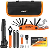 Bicycle Repair Bag & Bicycle Tire Pump, Home Bike Tool Portable Patches Fixes, Fixe, Inflator, Maintenance For Camping Travel