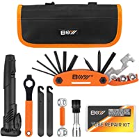 Bicycle Repair Bag & Bicycle Tire Pump, Home Bike Tool Portable Patches Fixes, Fixe, Inflator, Maintenance for Camping…