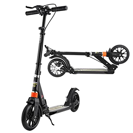 ANCHEER Adult Teen Kick Scooter with Handbrake, City Urban Commuter Scooter - Easy-Folding