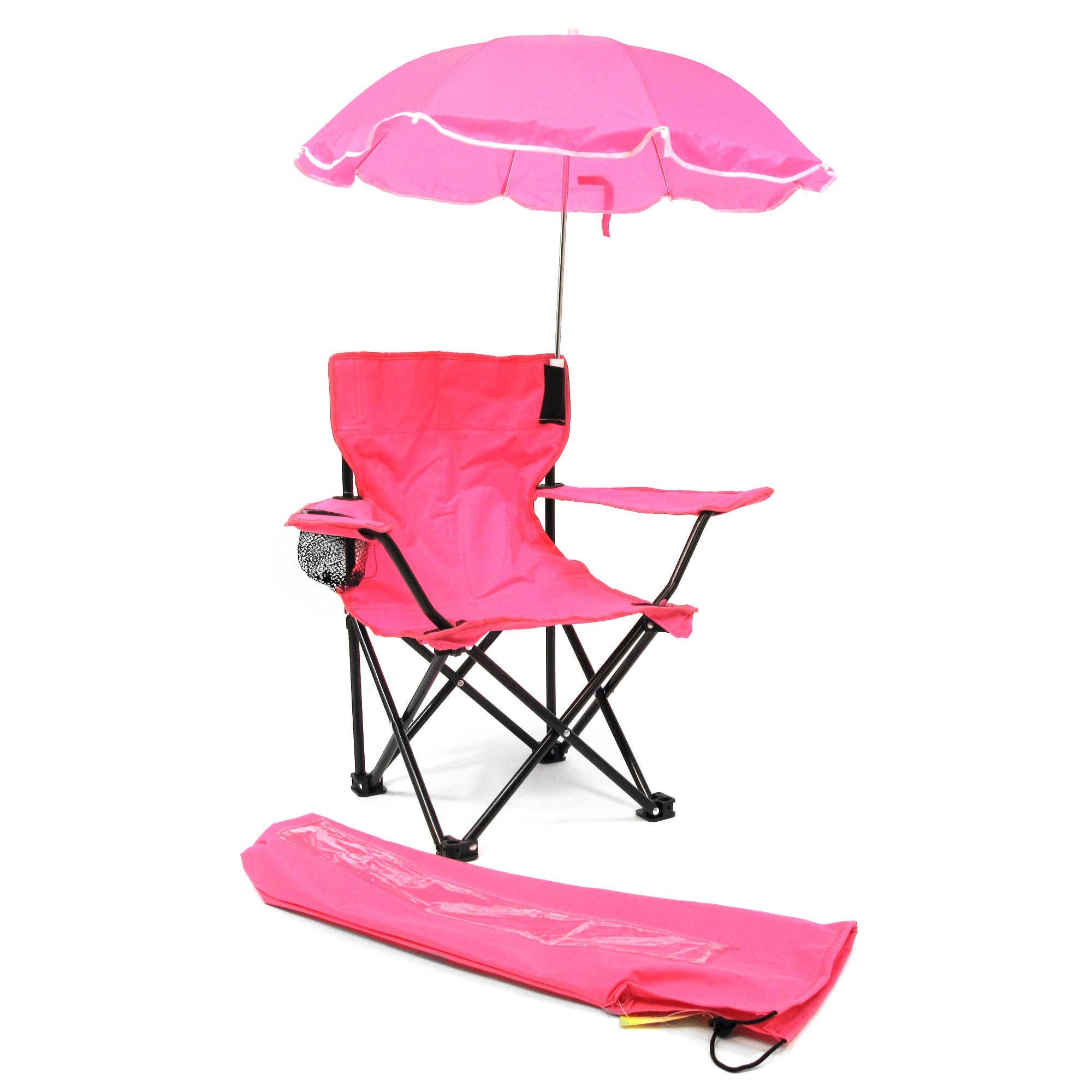 Cute & Lovely Girls Camp Chair with Umbrella in Pink (Suitable for children 2-4 years)