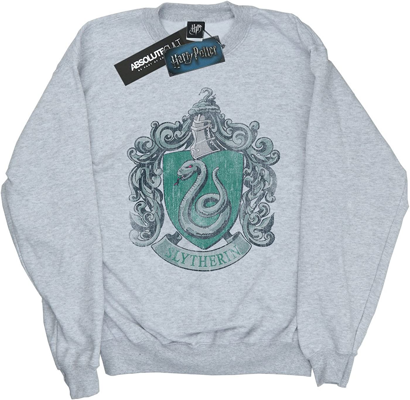Harry Potter Fille Slytherin Distressed Crest Sweat-Shirt