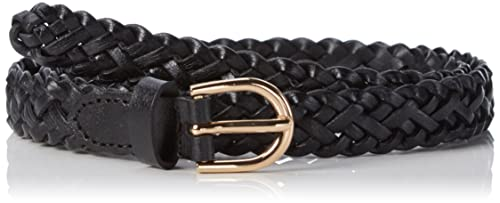 PIECES Pcavery Leather Braided Slim Belt Noos, Cintura Donna