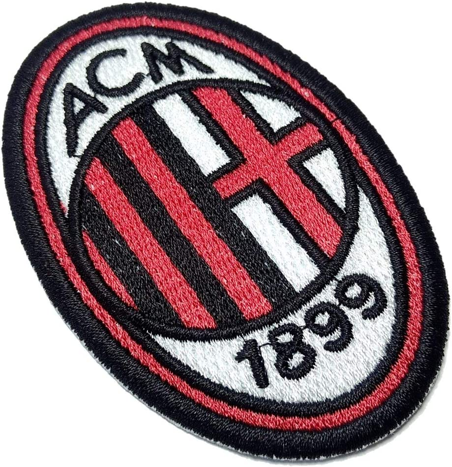 AC Milan Italia Shield Team Football Futbol ricamato Patch Dimensioni 5,7 /× 8,4 cm