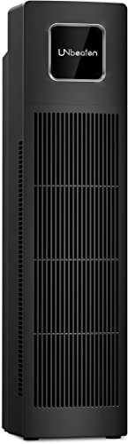 UNbeaten Tower Air Purifiers UN0851, True HEPA with Charcoal Air Filters, Allergen Reducing Air Cleaner, 3 Year Warranty Odor Eliminator for Smokers, Traps Smoke, Dust, Mold, Home Pet Dander Purifying
