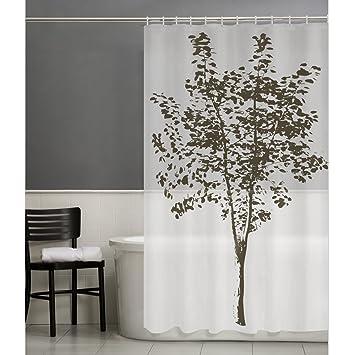 Maytex Arbor Tree 13 Piece PEVA Shower Curtain Set With 12 Hooks