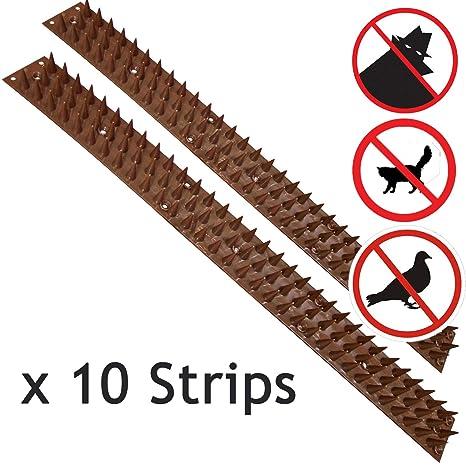 Pinchos de seguridad Spares2go anti trepada para pared o valla, 10 tiras (5 metros