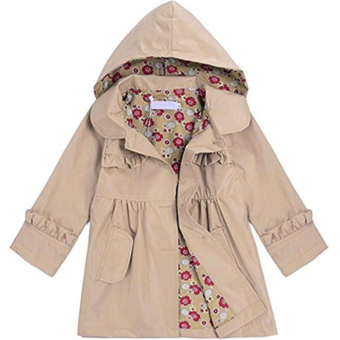 Amazon.com: PEATAO niña chubasquero, lindo flor de niños ...