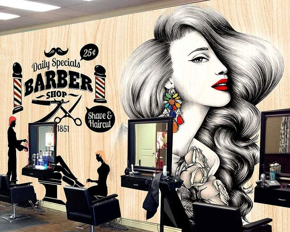3d Wallpaper Beauty Salon Salon Hair Salon Photo Background Barber Shop Vintage Retro Makeup Mural Custom Decor Wallpaper 250x175cm Amazon Com