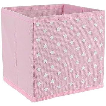 Boite De Rangement Pliable.Promobo Cube Panier Boite De Rangement Pliable Deco Etoile