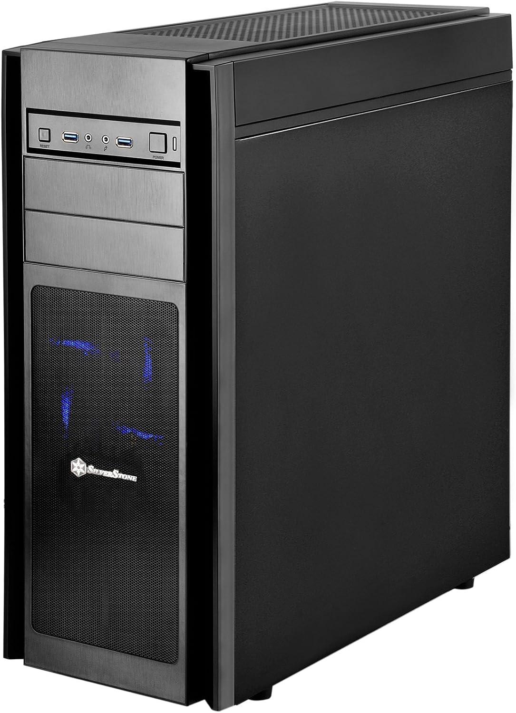 Mini-DTX Mini-ITX Mid Tower Computer Case KL06B Silverstone Tek Micro-ATX