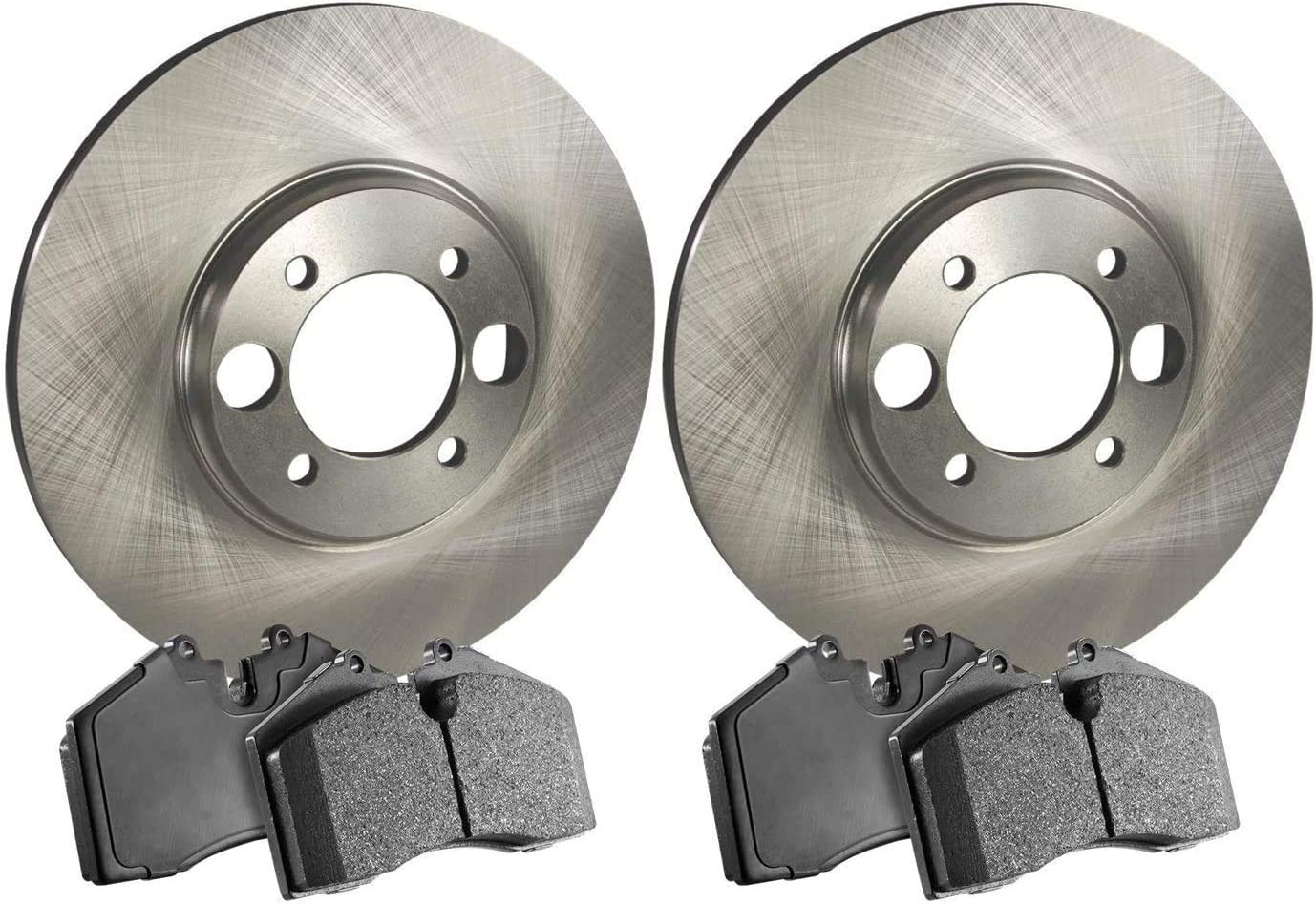 Stirling Front Disc Brake Rotors and Ceramic Brake Pads For 2014 Toyota Venza AWD 3.5 Liter V6 Two Years Warranty