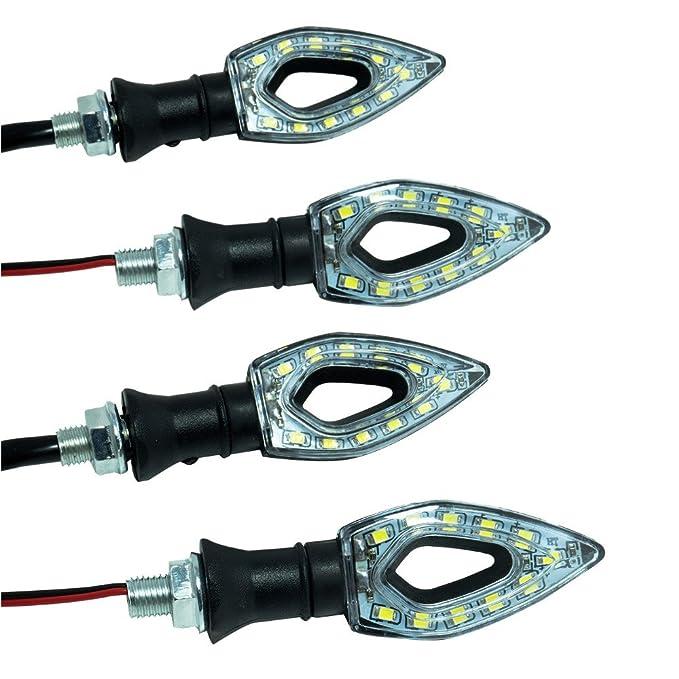 1 opinioni per DOBO® 4 pezzi frecce moto universali LED indicatori di direzione mini frecce