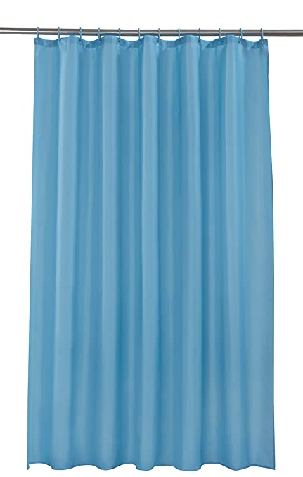 Spectrum 180 X Cm Shower Curtain And Rings Set Teal Amazoncouk Kitchen Home