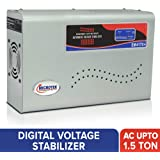 Microtek EM4170+ Automatic Voltage Stabilizer for AC up to 1.5 ton (170V-270V), Metallic Grey – LED Display, Wall Mounted