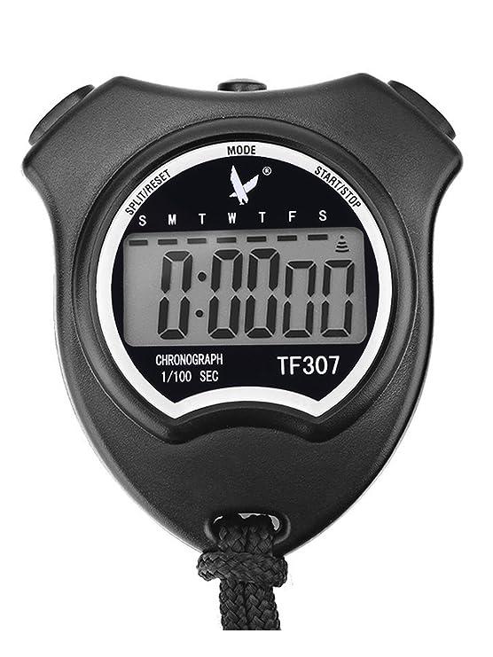 Leap Digital Deporte Cronógrafo Cronometro Digital Cronómetros Deportivo con Grande LCD Monitor, Negro: Amazon.es: Deportes y aire libre