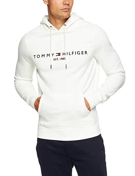 Tommy Hilfiger Hombre Sudadera con Capucha, Blanco: Amazon.es: Ropa y accesorios