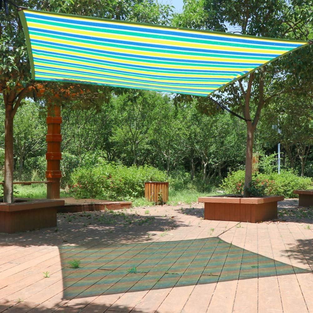 Malla Sombra, Paño de Pantalla de privacidad con Panel Sun Shade con Arandelas: Malla de Bloqueo UV for Exteriores, Patio, toldo, Cubierta de Ventana, pérgola o Mirador (Size : 2m x 2m):