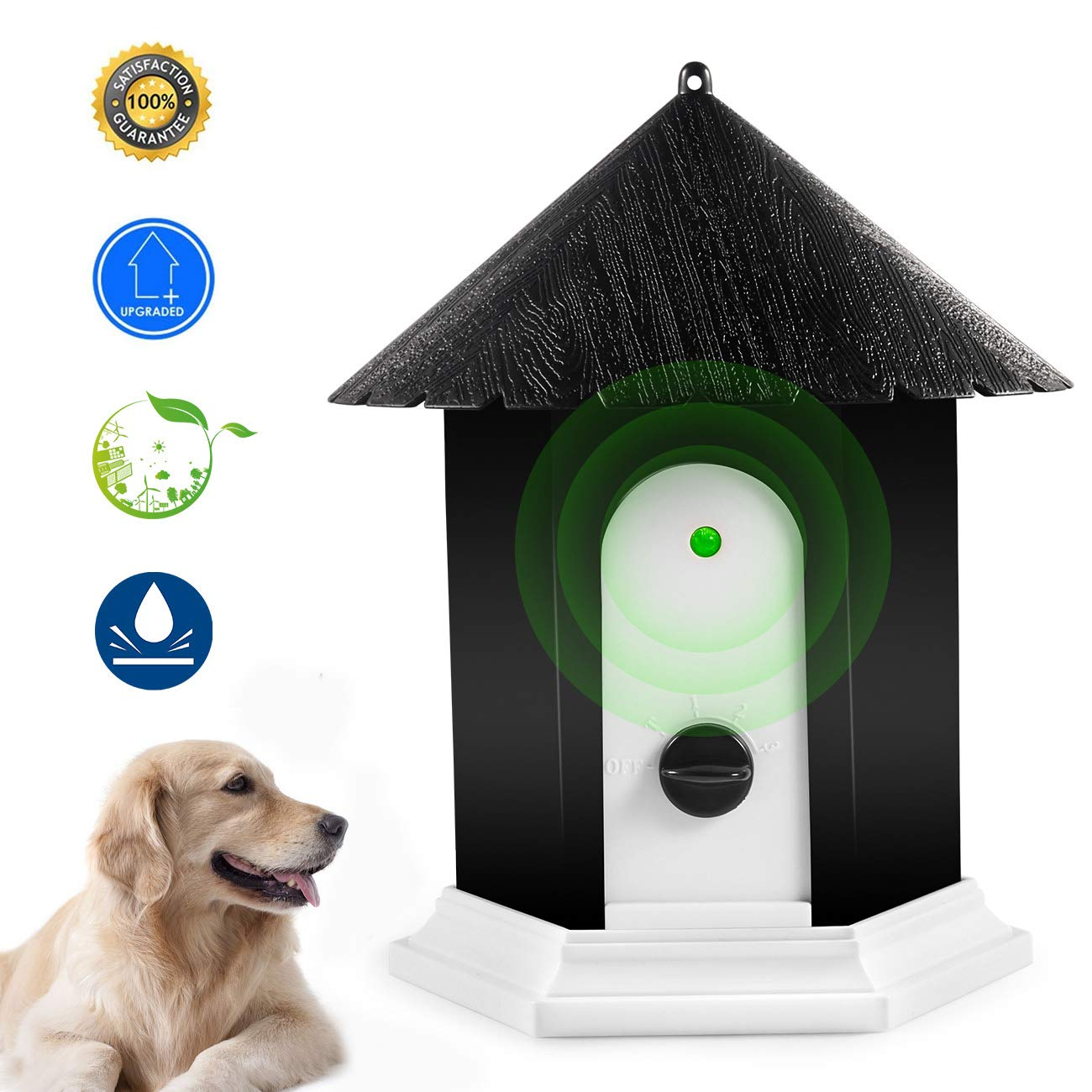 Anti Barking Device, Ultrasonic Barking Control Device, Waterproof Outdoor Anti Bark Deterrents in Birdhouse Shape by Humutan