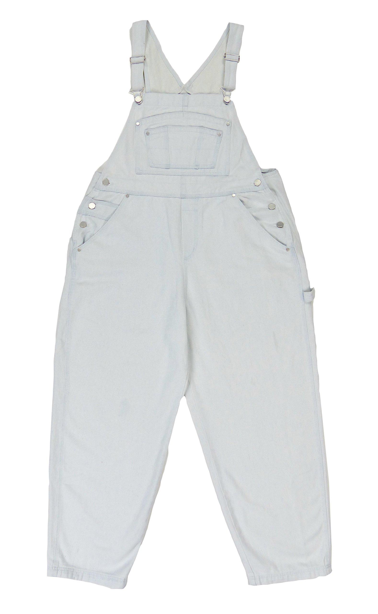 310de2ecc093 BoundOveralls Plus Size Women s Denim Bib Overalls Bleached Wash Size 16