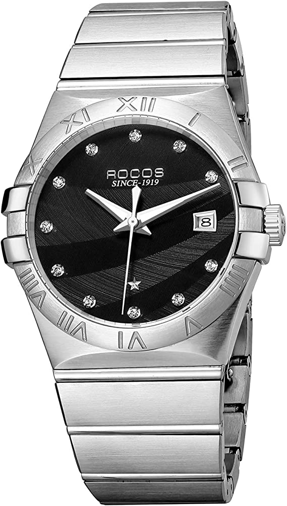 ROCOS Mechanical Automatic Watches for Men Sapphire Mens Wrist Watches Stainless Steel R1101