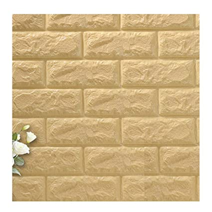 Binglinghua 10pcs 3d pegatinas de pared de ladrillo Panel de PE para papel pintado autoadhesivo de