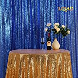 LQIAO Nice 8x10ft Royal Blue Sequin Backdrop Sequin Background Baby Shower/Dance Team Photography Background for Birthday Party Background, Pocket 8x10FT(240x310cm))