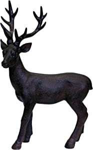 Sagebrook Home 11221 Standing Deer Figurine, Brown Polyresin, 7 x 13.25 x 19.5 Inches