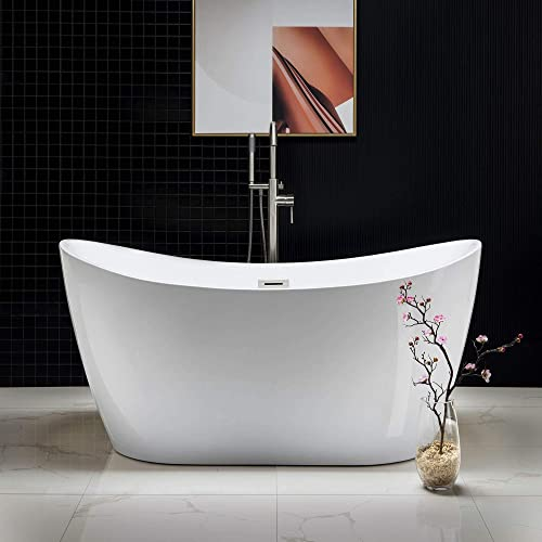 WOODBRIDGE Acrylic Freestanding Bathtub Contemporary Soaking Tub