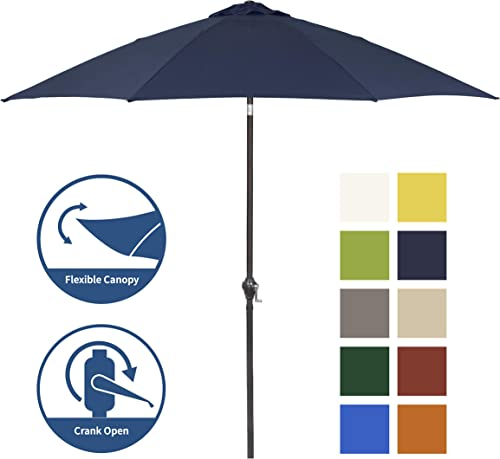 Shade Basics 9' Rd Crank Open Tiliting Patio Umbrella