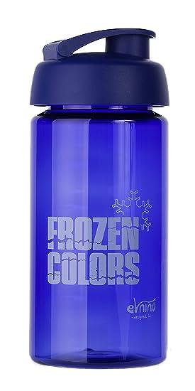Frozen Colors Botella | 500 ml | plástico sin BPA | antigoteo cierre | Práctico Abrir