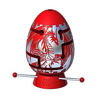 Smart Egg Red Dragon: Puzzle 3D Labirinto, Sfidante Rompicapo per Fan di Puzzle, per 8+ (2 ° Livello di difficoltà su 3) - Sfida e Divertimento nella Risoluzione del Labirinto all'Interno dell'Uovo
