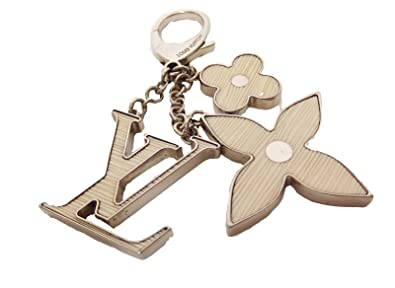 Auth Louis Vuitton Key Ring Key Chain White Plastic Bag Charm ... 2f6a1ced5