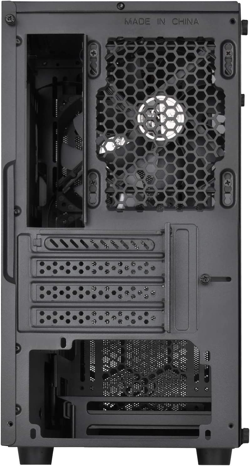 SilverStone Technology SST-PS15B-RGB Micro-ATX Computer Case with Tempered Glass and 2 X RGB Front Intake Fans PS15B-RGB