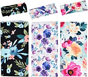 Floral Swaddle Blanket, 3 Pack, Receiving Blankets Girl, Flower Swaddling Blanket, Baby Girl Swaddle Registry Essentials, Newborn Wrap Soft Snug Strethey Breathable, Hospital Coming Home Outfit