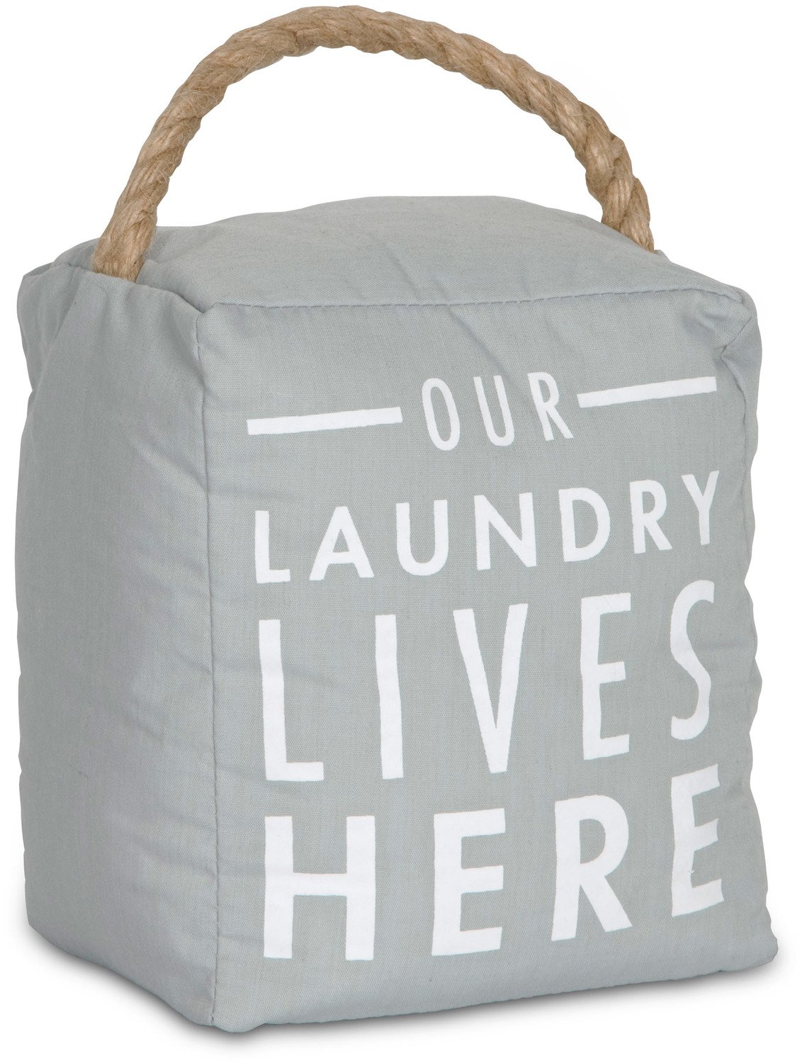 Pavilion Gift Company 72193 Our Laundry Lives Here Door Stopper, 5 x 6''