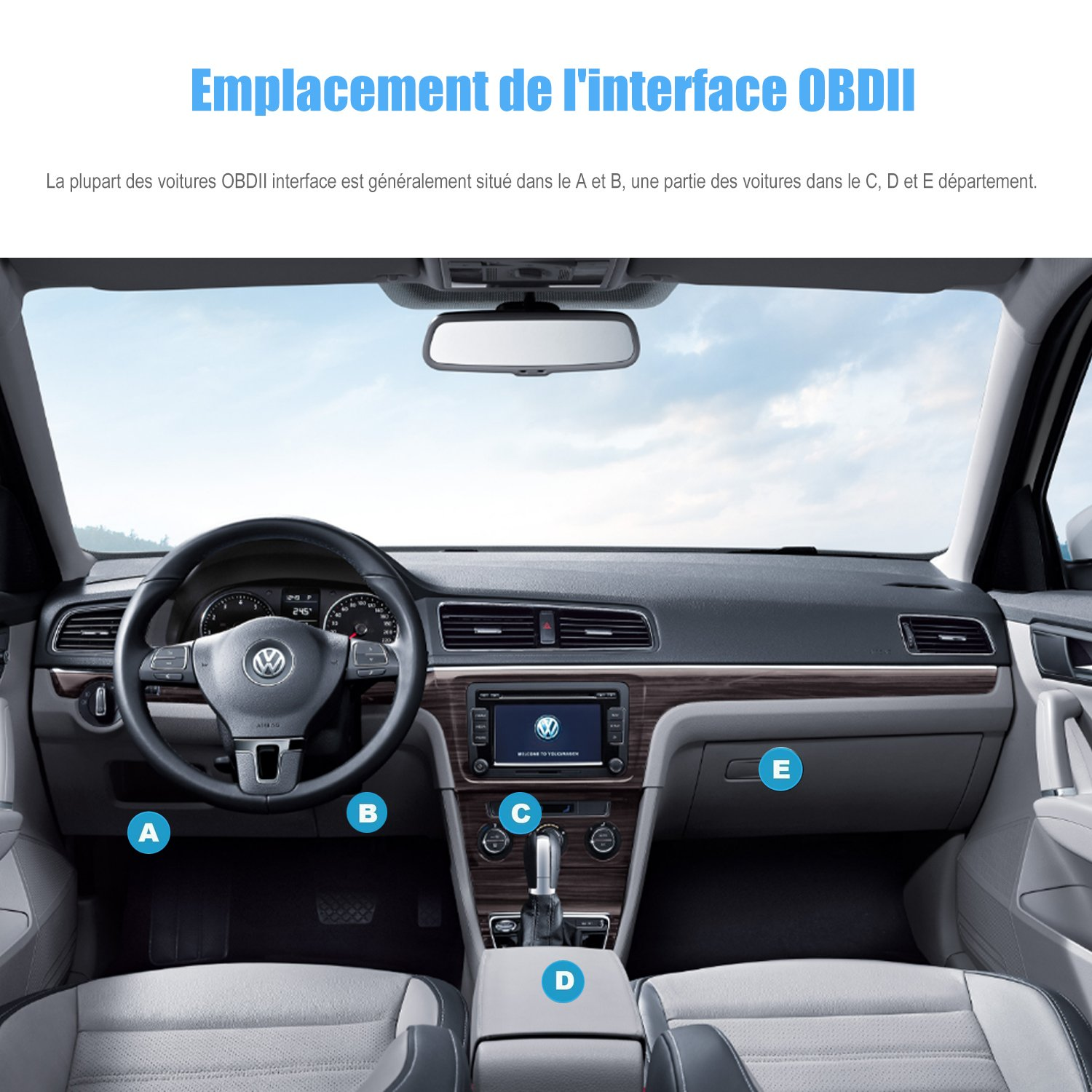 ieGeek OBD Bluetooth OBD2 Mini Adapter sans-Fil Voiture Diagnostique Scanner Outil iPhone /& Windows Dispositifs Relier Via Bluetooth 4.0 avec Android