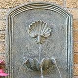 Sunnydaze Seaside Outdoor Wall Water Fountain