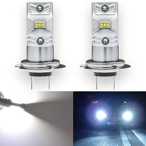 TUINCYN - Bombilla superluminosa LED H7 SMD 80W CSP Chips de 1600 lúmenes, universalmente utilizada en faros ...