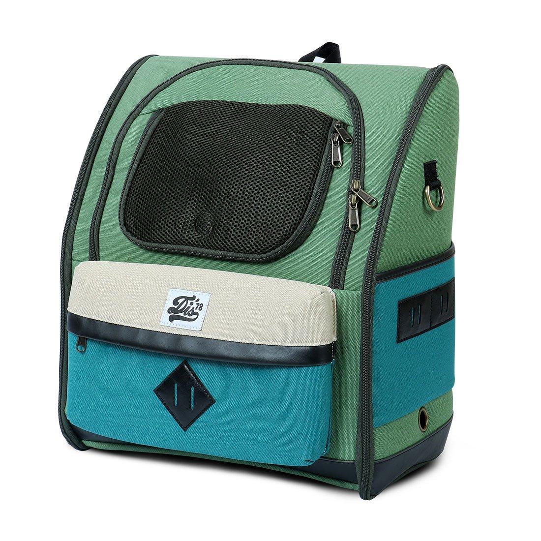 uxcell DOGISMILE Comfort Dog Cat Pet Carrier Portable for Small dogs Outdoor Travel Hiking Shoulder Bag Backpack Green