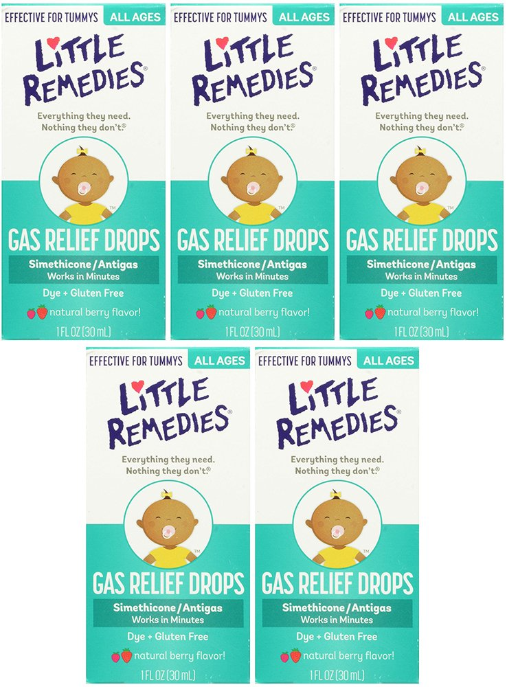 Little Remedies Tummy nvXtF Relief Drops, Natural Berry Flavor, 1 Ounce (5 Pack) by Little Remedies