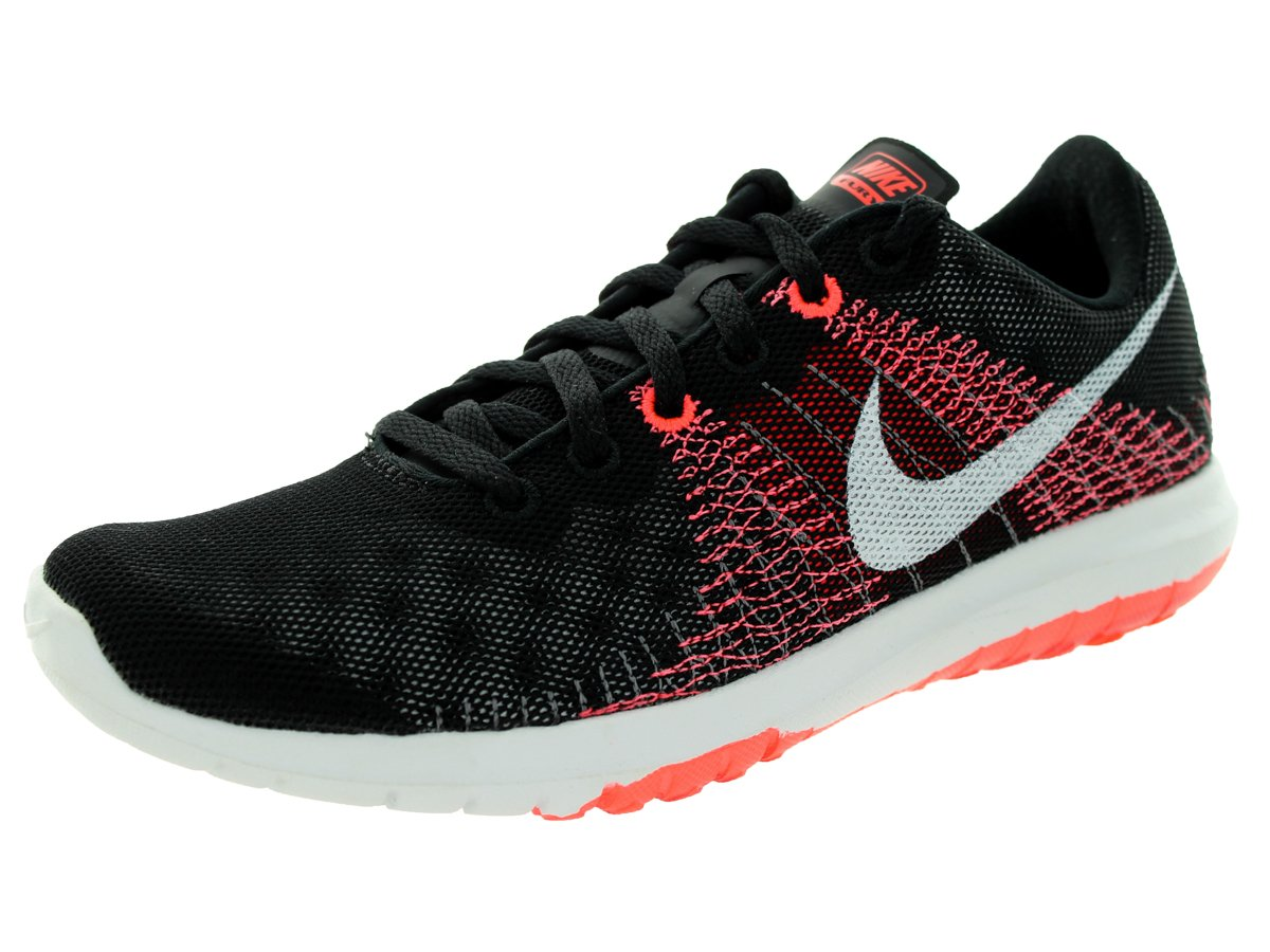 size 40 9283d bae5c Galleon - Nike Women s Flex Fury Black White Ht Lv Brght Crmsn Running Shoe  10 Women US