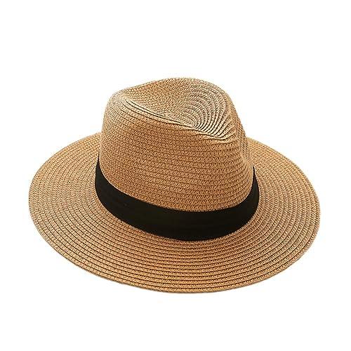 JLTPH Sombrero Panamá Plegable Panama Sombrero de Verano