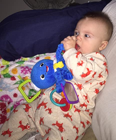 Baby Einstein Activity Arms Octopus Take-Along Plush Toy, Ages Newborn + This is my babies favorite toy