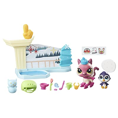 Littlest Pet Shop Ice Skating Playset: Toys & Games