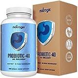 (180 Caps) Probiotics 40 Billion CFUs by Natrogix, Third-party Tested 100% Potency until Expiration. Shelf Stable Probiotic Capsule w/ Prebiotics & Acidophilus- Best Probiotics for Men & Women