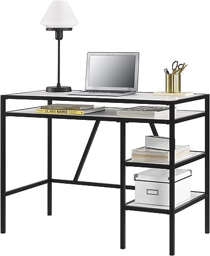 Weston Computer Desk, Ivory Pine